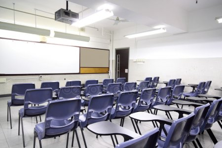 depositphotos 11471501 stock photo empty classroom with chair and
